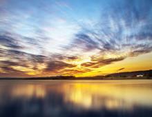 Solnedgang på Ørin